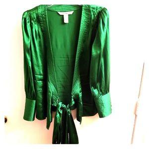 Gorgeous  Diane Von Furstenberg Emerald Silk